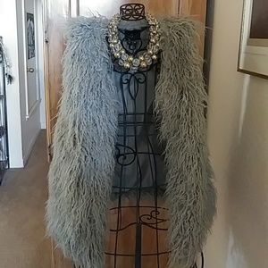 Forever 21 gray faux fur.